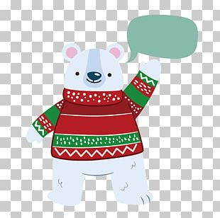 Polar Bear Christmas PNG
