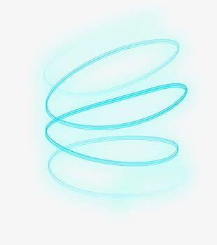 Science Iris Blue Glow Curve Lines PNG