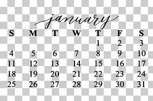 Calendar January Desk Pad PNG