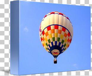 Hot Air Balloon Gallery Wrap Canvas Art PNG