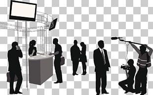 Microphone Silhouette Journalist Interview PNG