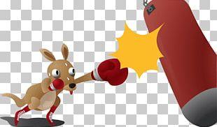 Boxing Kangaroo PNG
