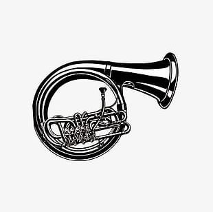 French Horn Instrument PNG