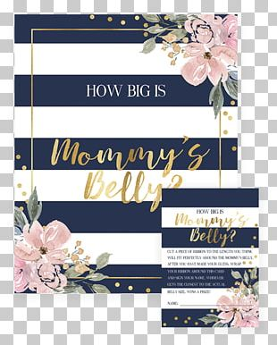 Floral Design Wedding Invitation Baby Shower Gift Party PNG