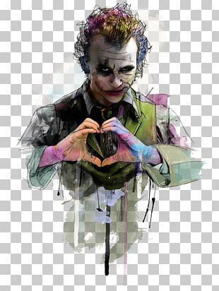 Joker Heath Ledger The Dark Knight Harley Quinn Batman PNG