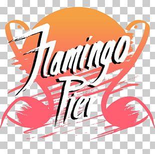 Graphic Design Poster Flamingo Pier PNG