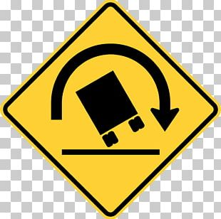 Warning Sign Traffic Sign Truck Rollover Car PNG
