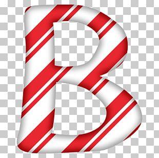 Candy Cane Letter Alphabet Christmas Santa Claus PNG