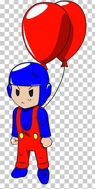 Boy Cartoon Balloon PNG