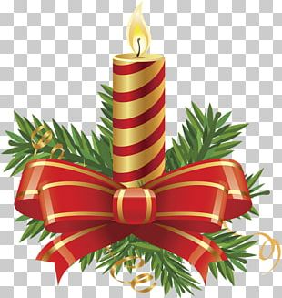 Christmas Ornament Candle Sticker PNG