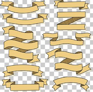 Khaki Striped Ribbons PNG