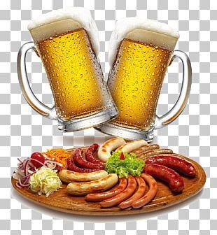 Germany Sausage Beer German Cuisine Dish PNG