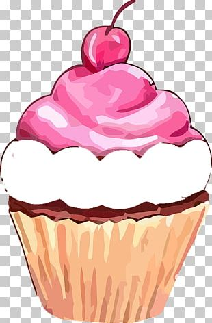 Cupcake Muffin Frosting & Icing Birthday Cake PNG