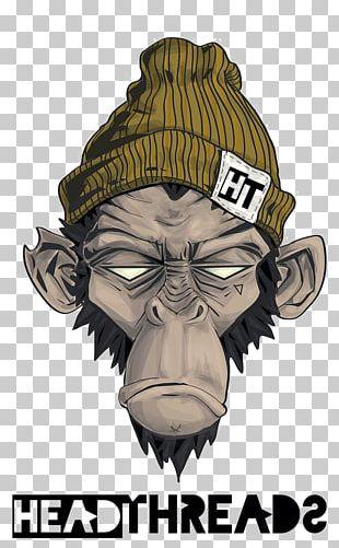 Monkey Graffiti Primate Drawing Illustration PNG