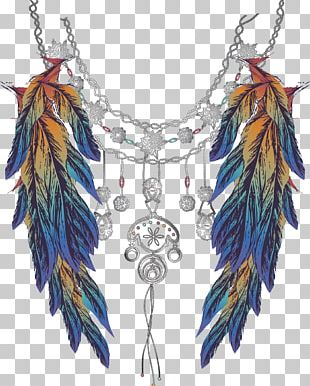 Feather Silver Jewellery PNG