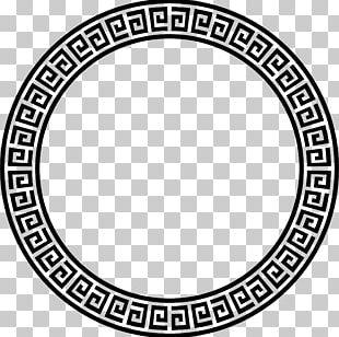 Meander Greek Ornament Pattern PNG