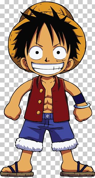 Monkey D. Luffy Nami Roronoa Zoro One Piece Chibi PNG