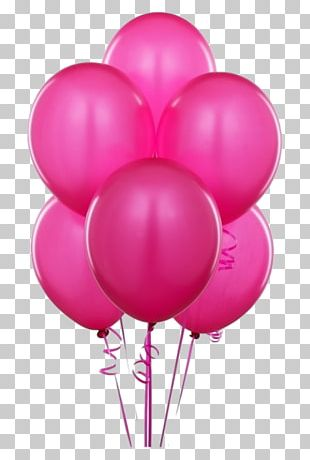 Balloon Party Pink Birthday Purple PNG
