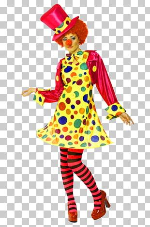 Clown Costume Party Woman Circus PNG