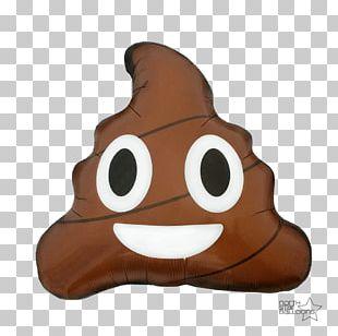 Pile Of Poo Emoji Smile Mylar Balloon PNG