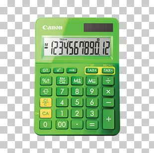 Canon LS-123K Calculator Office Supplies Electric Battery PNG