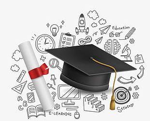 Graduation Season Element PNG