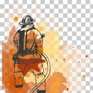 Firefighter Fire Department Firefighting Illustration PNG