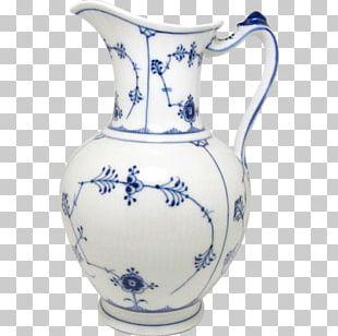 Jug Vase Blue And White Pottery Ceramic Cobalt Blue PNG