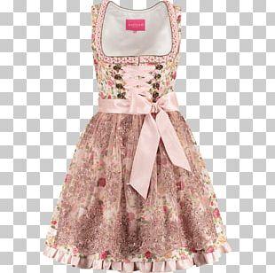Dirndl Pink Cocktail Dress Folk Costume PNG