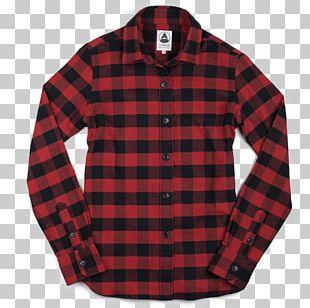 Flannel Tartan Sleeve Shirt Clothing PNG