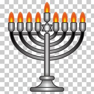 Hanukkah Menorah Emoji Judaism Sticker PNG