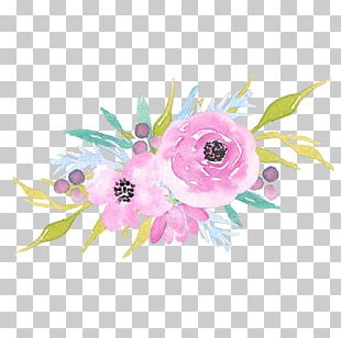 Floral Design Baby Shower Template PNG