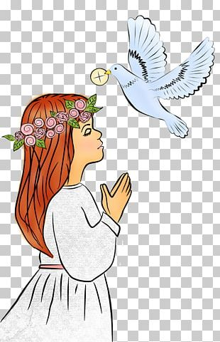 First Communion Eucharist Illustration PNG