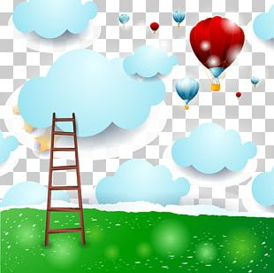 Hot Air Balloon Sky Cartoon PNG
