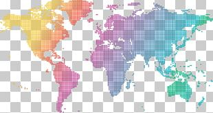Globe World Map World Flag PNG
