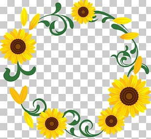 Kitakyushu Common Sunflower Wreath Garland PNG