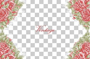 Texture Free Flowers Border Buckle Material PNG