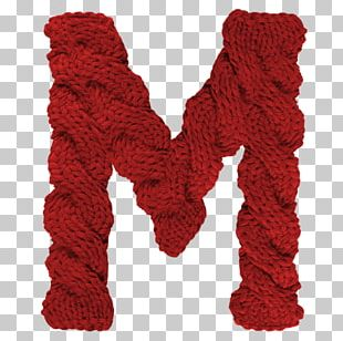 Wool Letter Typeface Knitting Font PNG