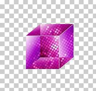 Crystal Cubes Purple Hexagonal Prism PNG