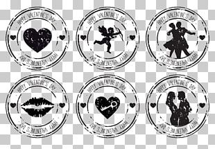 Valentines Day Rubber Stamp Wedding Postage Stamp PNG