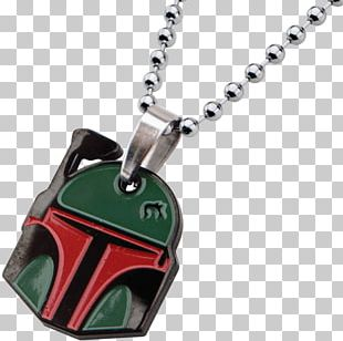 Locket Boba Fett Necklace Jewellery Chain PNG