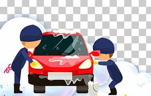 Cartoon Car Wash Mazda Cartoon Man PNG