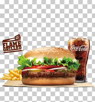 Whopper Hamburger Fast Food Bacon Burger King PNG