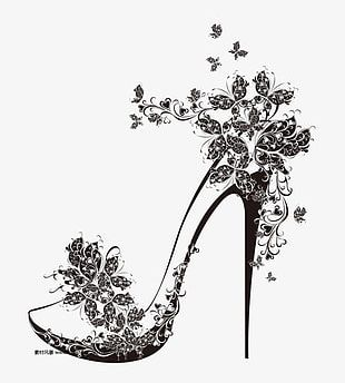 High-heeled Shoes Pattern PNG