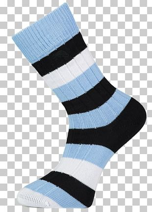 Sock Blue White Knee Highs Red PNG