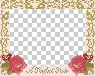 Wedding Invitation Frames Garden Roses PNG