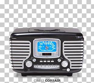 Crosley Solo CR3003A Alarm Clocks Radio CD Player Compact Disc PNG