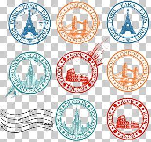 Postage Stamp Travel Visa PNG