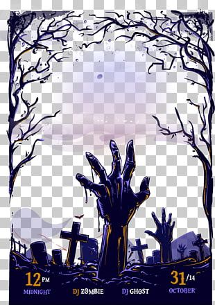 Poster Halloween Graphic Design PNG