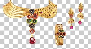 Earring Necklace Gemstone Choker Gold PNG